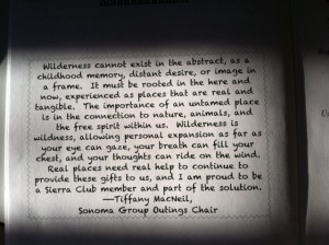 Sierra Club wilderness book quote correct